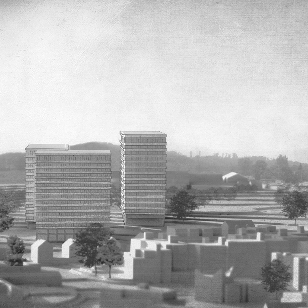 Punkthochhäuser im Quartierpark